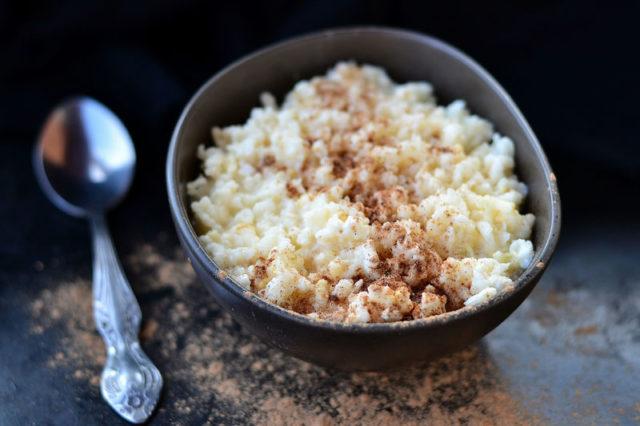 Riz au lait aux poires séchées