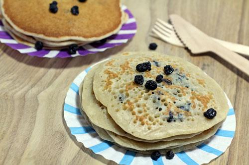 Comment faire au déshydrateur une recette de pancakes végétaux aux myrtilles