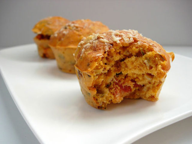 Recette au déshydrateur de muffins au chorizo et tomate séchée
