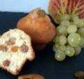 Muffins aux fruits d' Automne déshydratés de mon verger: pommes, figues et raisins blonds moelleux